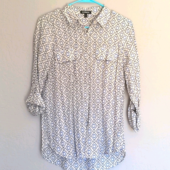 Express patterned button up